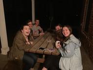 teen highschool homeschoolers having a game night