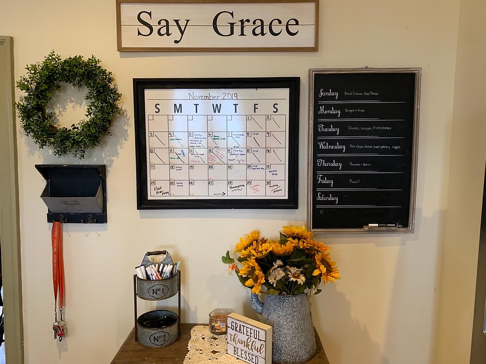 Kitchen Organization Command Center and Calendar