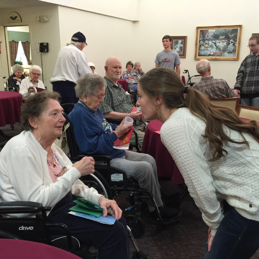 homeschool field trip to the nursing home is great for the kids and elderly.