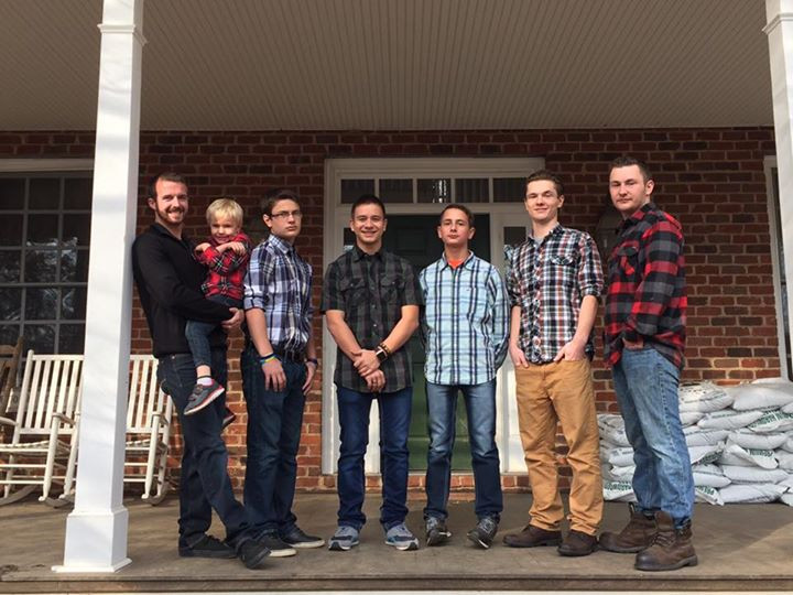 Boys in the big donnelly family tribe