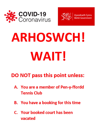Arhoswch - Wait (coronavirus).png