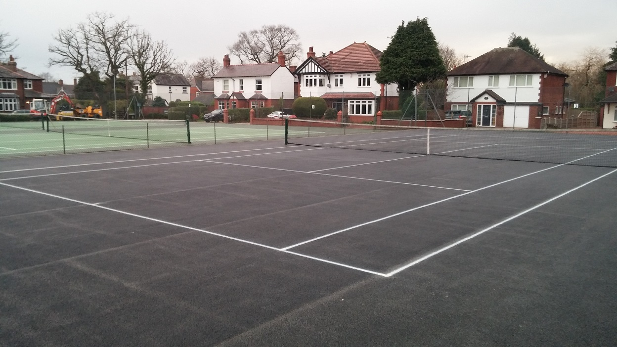 Court 3's new surface, February 2016