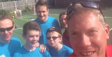 Selfie with Tennis Wales CEO