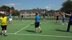 The 1st Cardio Tennis gets underway