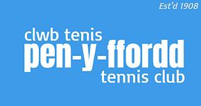 Pen-y-ffordd Tennis Club header graphic.