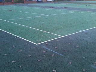 Court resurfacing work begins