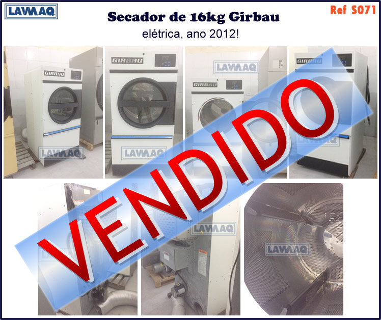 ref S071 secador 16kg eletrico Girbau