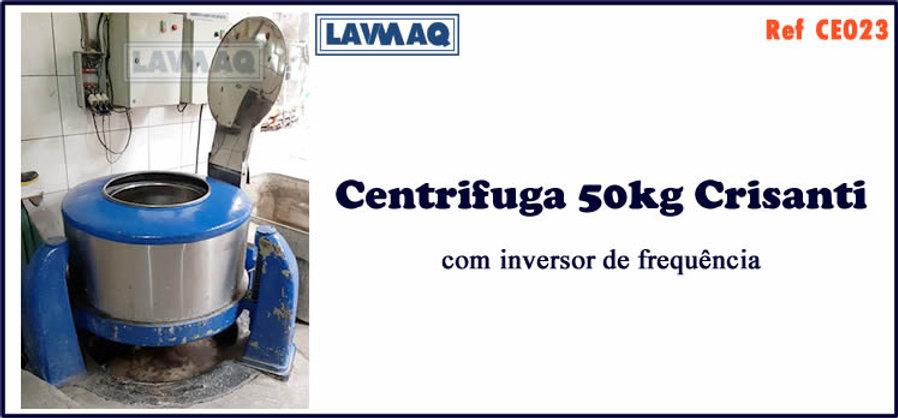 ref CE023 centrifuga 50kg crisante com inversor de frequencia