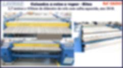 ref CAL047 calandra usada 4 rolos de 450mm para lavanderia industrial
