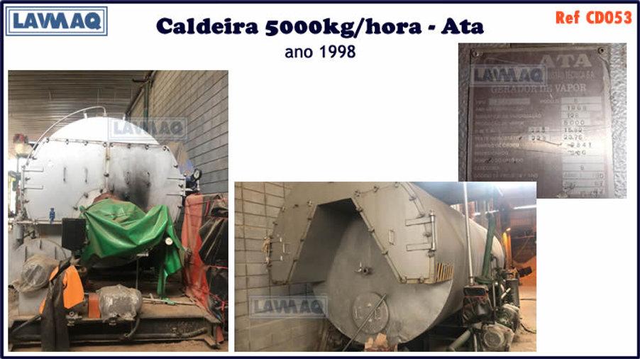 ref CD053 Caldeira usada de 5000kg h Ata