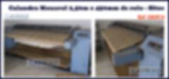 Calandra monorol usada Sitec com rolo de 2,50 metros e 450mm de diamentro para lavanderia industrial