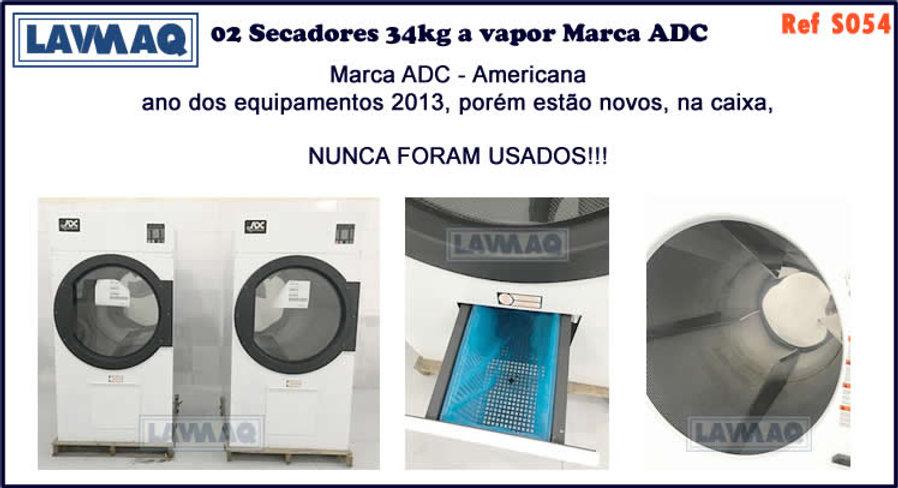 ref S054 secador 34kg a vapor ADC