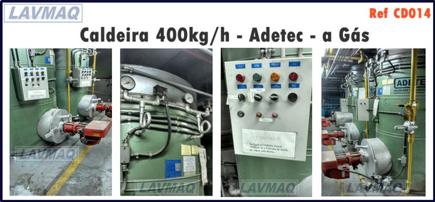 Caldeira usada 400kg por hora a gás Adetec para lavanderia industrial LAVMAQ