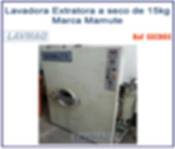 Lavadora extratora a seco 15kg Mamute para lavanderia industrial doméstica