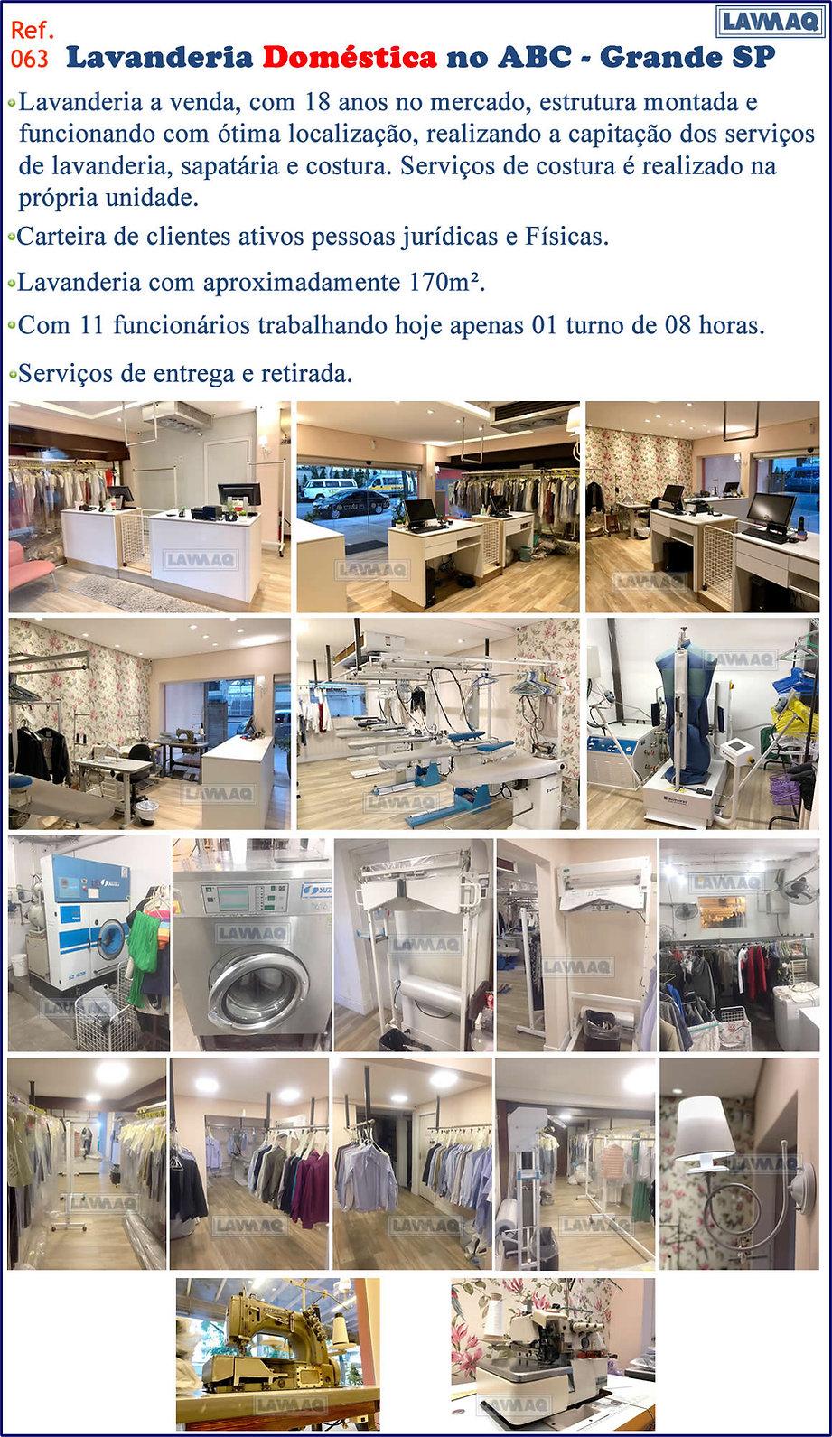 ref 063 lavanderia domestica em Santo An