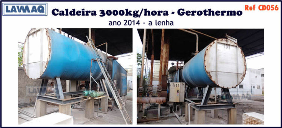 ref CD056 Caldeira usada de 3000kg h ano 2014