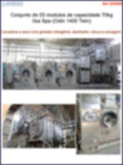 conjunto de três modulos de 70kg para lavagem a seco - lavadora a seco 70kg Ilsa Spa