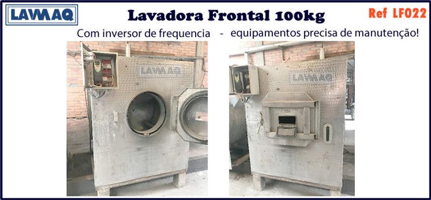 ref LF022 lavadora frontal 100kg com inv