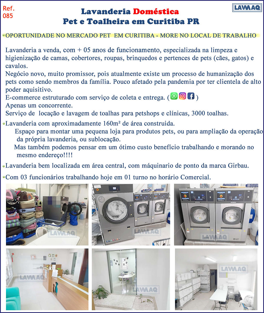 ref 085 Lavanderia Pet e toalheiro em Curitiba