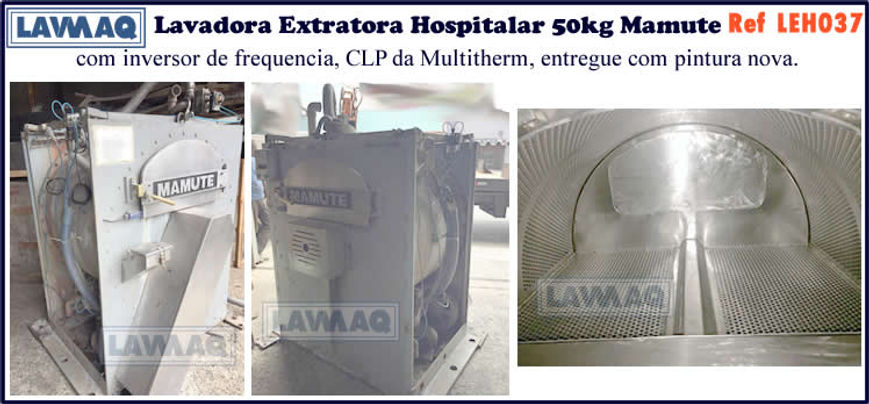 ref LEH037 lavadora extratora hospitalar 50kg mamute