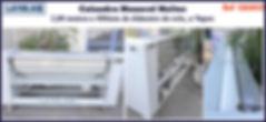 ref CAL052 calandra monorol usada com 02 m por400mm para lavanderia industrial