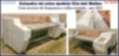 Calandra usada 02 rolos modelo CL2 200 Maltec - LAVMAQ para lavanderia industrial