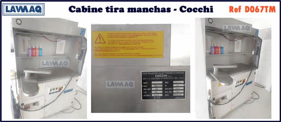 ref D067TM cabine tira manchas cocchi