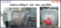 Caldeira usada 500kg por hora a gás Ecal para lavanderia industrial LAVMAQ