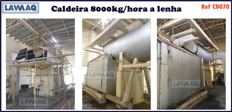 ref CD070 Caldeira de 8000 kg h a lenha