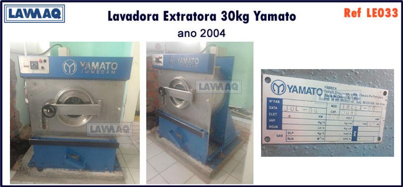 ref LE033 lavadora extratora 30kg Yamato