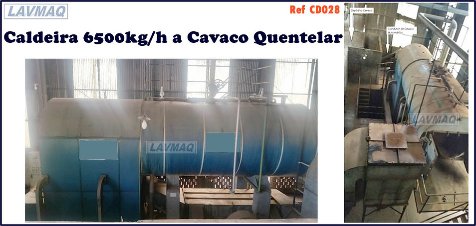 Caldeira usada 6500kg por hora a cavaco para lavanderia industrial LAVMAQ