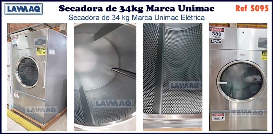 ref S095 secador 34kg Marca Unimac.fw.pn