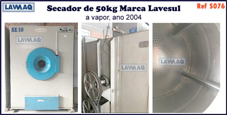 ref S076 secador 50kg a vapor marca lavesul