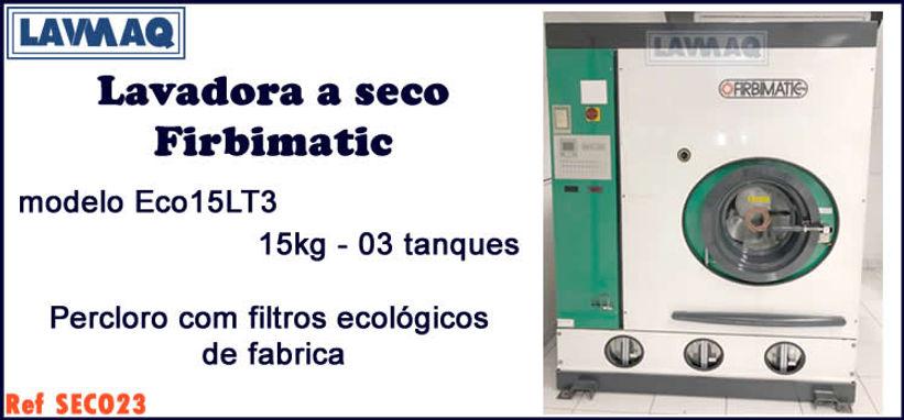 ref SECO023 lavadora a seco 15kg 3 tanques