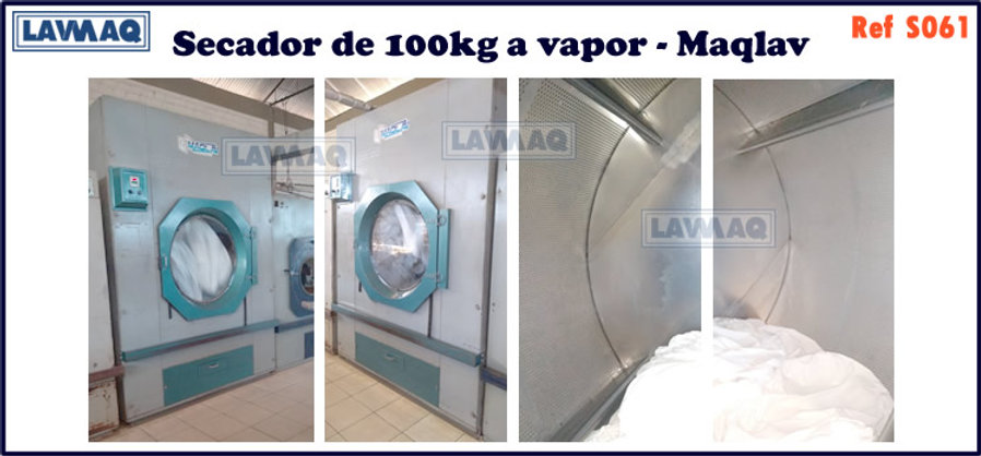 ref S061 secador 100kg a vapor Maqlav