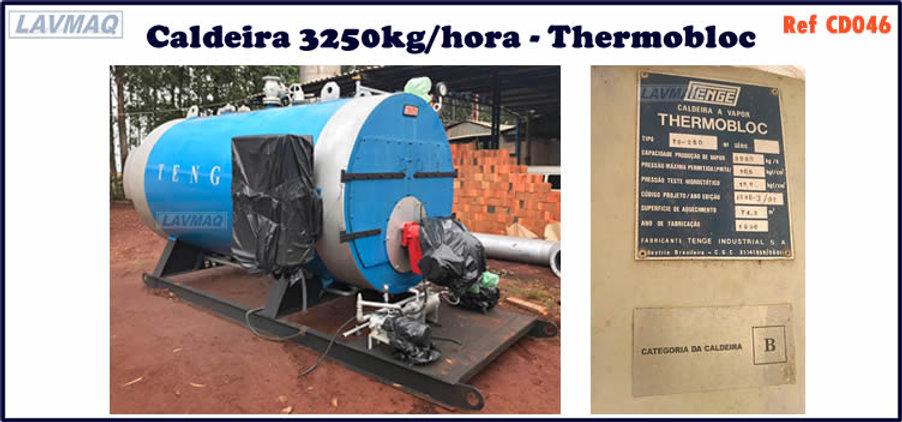 ref CD046 Caldeira usada de 3250kg h ano 1996