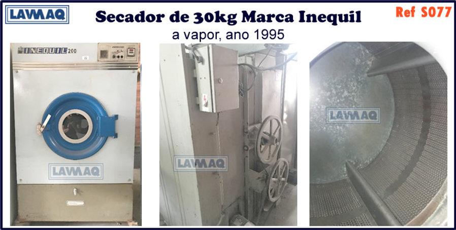 ref S077 secador 30kg a vapor marca inequil