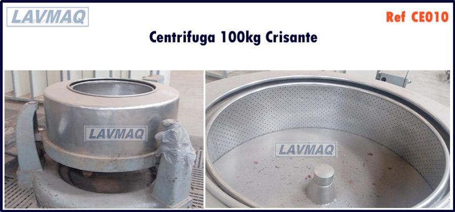 Centrifuga 100kg crisante para lavanderia industrial LAVMAQ
