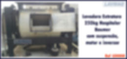 Lavadora extratora hospitalar 250kg Baumer para lavanderia industrial