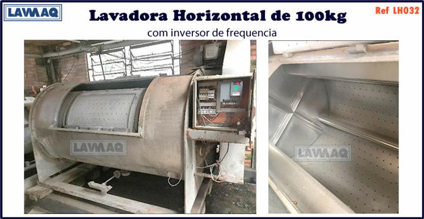 ref LH032 lavadora horizontal 100kg com