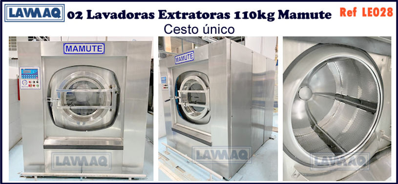 ref LE028 lavadoras extratoras 110kg Mamute