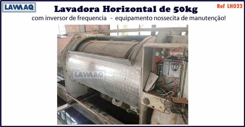 ref LH033 lavadora horizontal 50kg com i