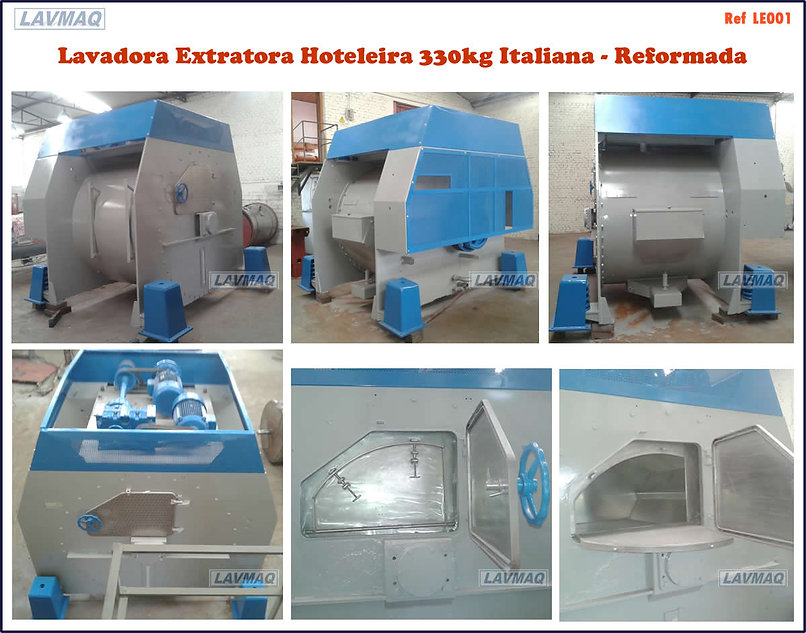 Lavadora extratora usada hoteleira 330kg para lavanderia industrial
