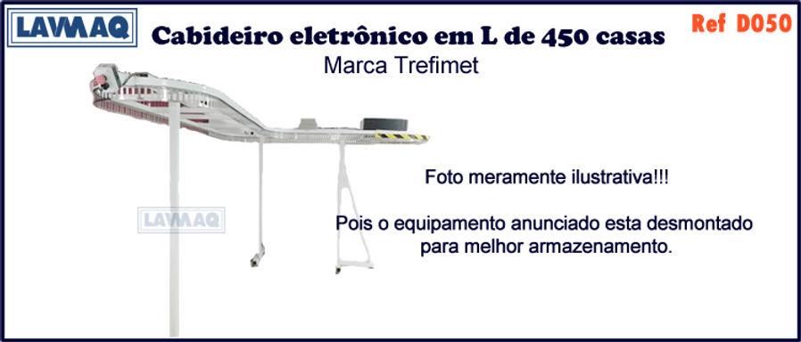 ref D050 Cabideiro eletronico em L de 45 casas