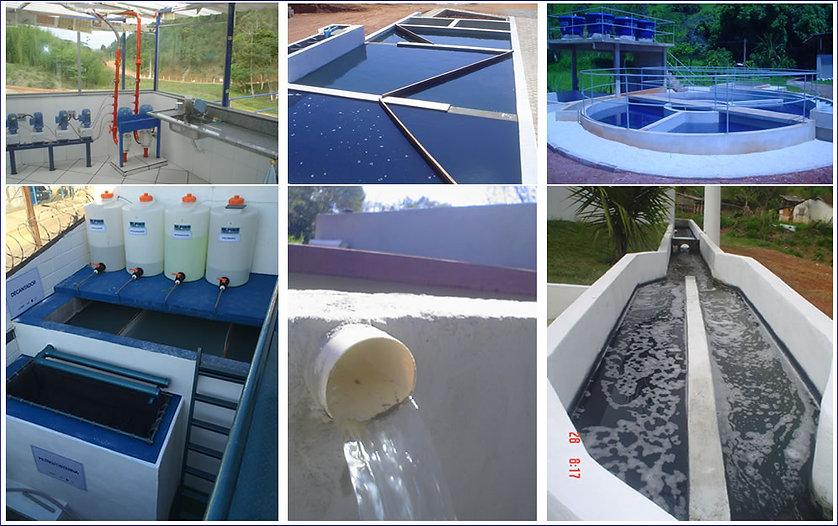 Estação de tratamento de água e reuzo.
