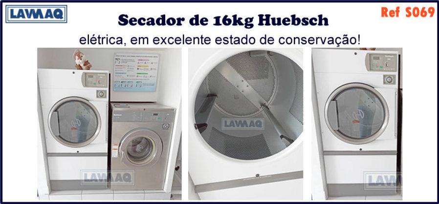 ref S069 secadores 16kg huebsch eletrica
