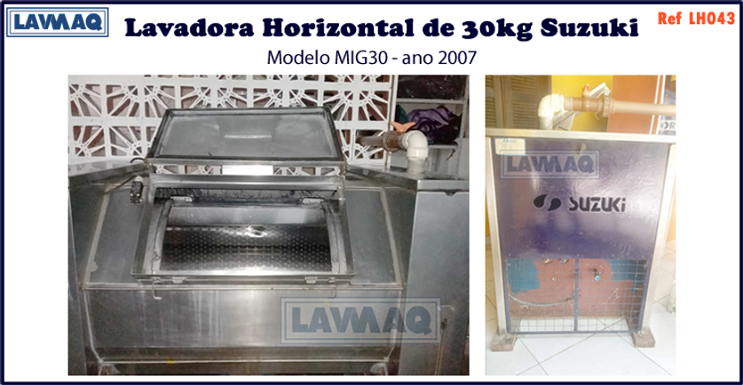 ref LH043 lavadora horizontal 30kg Suzuk