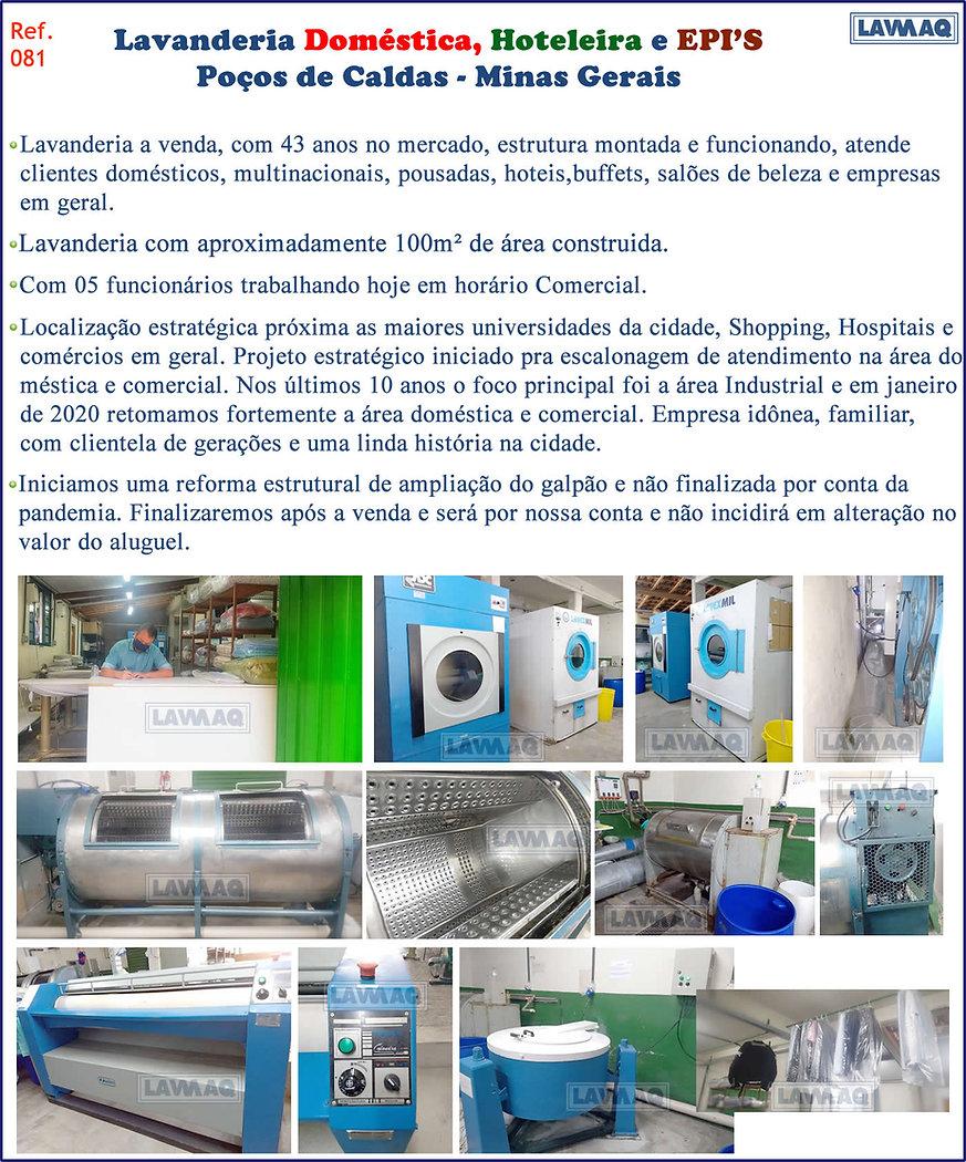 ref 081 Lavanderia domestica hoteleira e EPIS