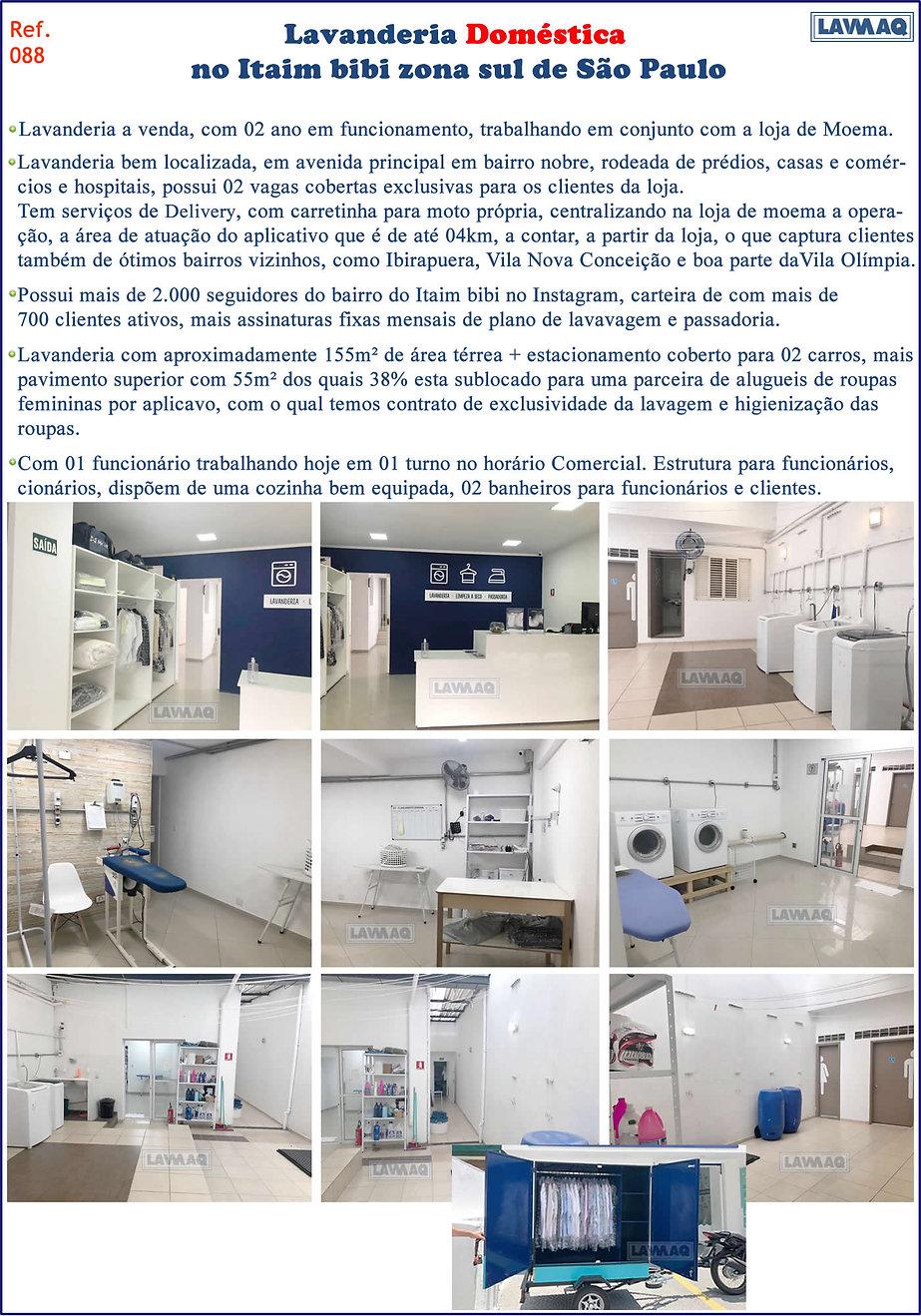 ref 088 Lavanderia domestica em Itaim bi