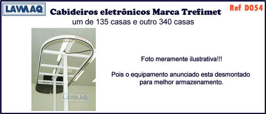 ref D054 Cabideiro eletronico de 135 e 340 casas